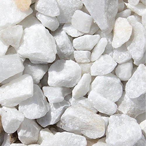 Marmor Weiss Ziersplitt 250kg Big Bag 9-12mm, 15-25mm, 25-40mm (15-25mm)