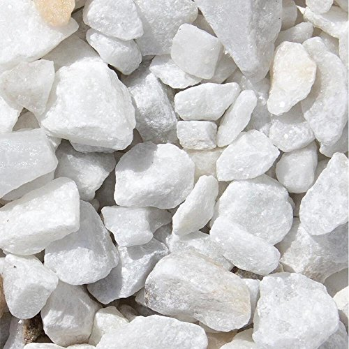 Marmor Weiss Ziersplitt 500kg Big Bag 9-12mm, 15-25mm, 25-40mm (15-25mm)