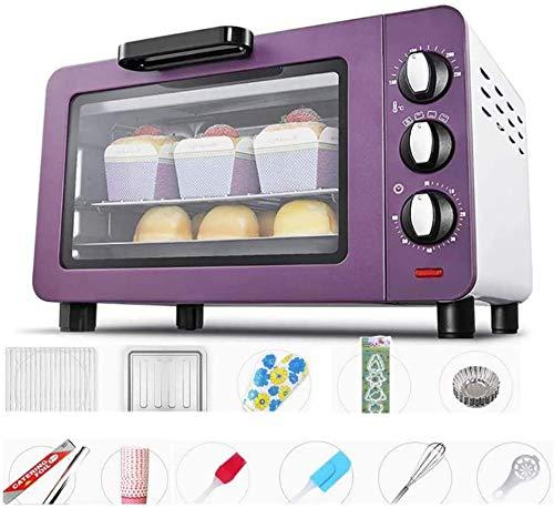 Mini Four 15L gratuit 46 pièces électriques avec 4 Ustensile tuyaux de chauffage en acier inoxydable grille-pain avec 40 ℃ basse température anti-échaudage