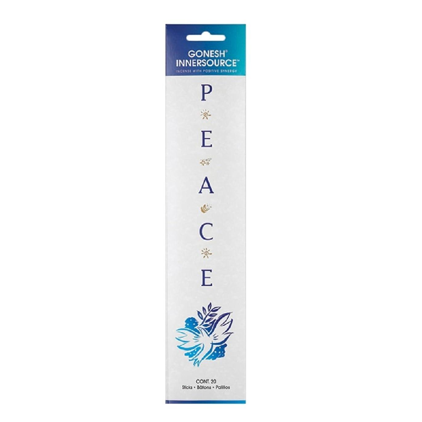 整理する陪審定義するGonesh Incense Sticks Innerソース平和、20ピース