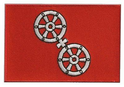 Aufnäher Patch Flagge Deutschland Stadt Mainz - 8 x 6 cm