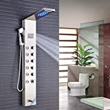 <span class='highlight'>Rozin</span> <span class='highlight'>Shower</span> <span class='highlight'>System</span> <span class='highlight'>LED</span> Rainfall and <span class='highlight'>Water</span>fall Head LCD Screen Massage Jet Tub Spout and Hand Sprayer Fingerprint-Free 5 Functions Working at The Same Time <span class='highlight'>LED</span> <span class='highlight'>Shower</span> <span class='highlight'>Water</span> <span class='highlight'>Tower</span>