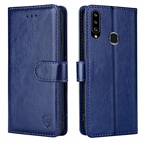 FMPCUON Hülle für Samsung Galaxy A20S Handyhülle [Standfunktion] [Kartenfach] [Magnetverschluss] Tasche Flip Hülle Schutzhülle lederhülle flip case für Samsung Galaxy A20S Blau