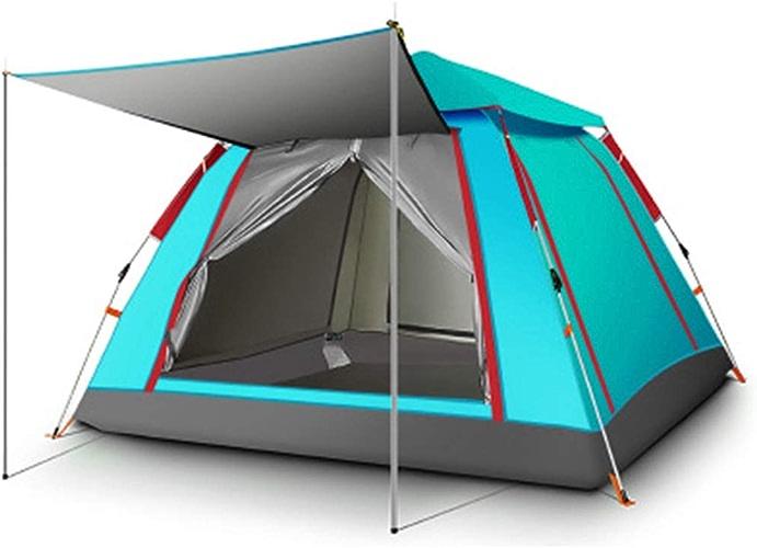 YaNanHome Tente Tente extérieure Vitesse hydraulique Tente Ouverte épaississement Tente de Pluie 3-4 Personnes Tente de Camping (Couleur   vert, Taille   215  215  142cm)
