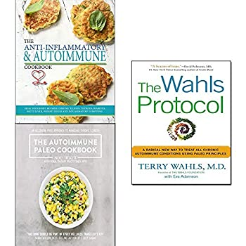 Wahls protocol,paleo cookbook,the anti-inflammatory & autoimmune cookbook 3 books collection set