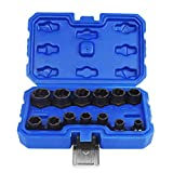 Eapele Impact Bolt Nut Removal Extractor Socket Tool Set (13pcs)