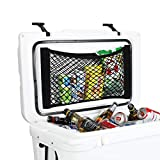 Cooler Storage Bag, AIEVE 2 Pack High Capacity Heavy Duty Cooler Organizer Adhesive Backed Elastic Nylon Mesh Storage Net Cooler Organizer for YETI Tundra 45 Coolers and RTIC 45 Cooler Accessories
