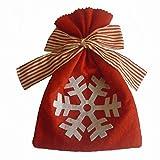 Christmas Candy Gift Bag 21.5 15.5cm Reutilizable, Con Correas Y Etiquetas De Regalo Para Envolver Bolsas De Regalo Como Dulces De Chocolate