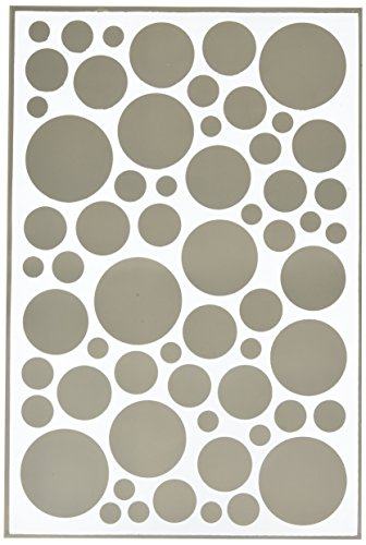 Hazel & Ruby HRSM340 Peel Away Pattern Stencil Mask Sheet, 12 by 18-Inch Confetti