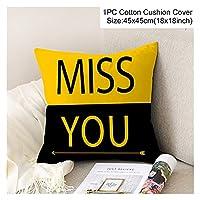 クッションカバー 45 * 45装飾クッションカバー黄色い枕ケース快適なホームデコクッションカバーのためのカーシートクッション枕 (Color : Style 19)