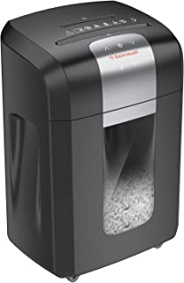 Bonsaii Paper Shredder, 120 Minutes Running Time, 14-Sheet Heavy Duty Cross-Cut CD Credit Card Shredder for Office with 6 ...