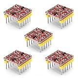 Youmile 5-Pack 2-Kanal-Logik-Pegelwandler 3,3 V bis 5 V TTL Bidirektionales Modul für Arduino
