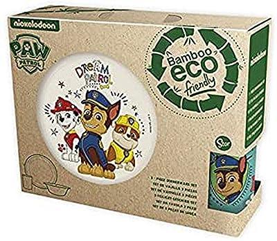 Paw Patrol La Patrulla Canina - Set Bambú con Orla 3 Piezas Boy Dream Patrol, Multicolor (STOR ST-01305) de Stor