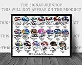 Fórmula 1 2018 firmada impresión de los cascos de 20 conductores 12 x 8 pulgadas