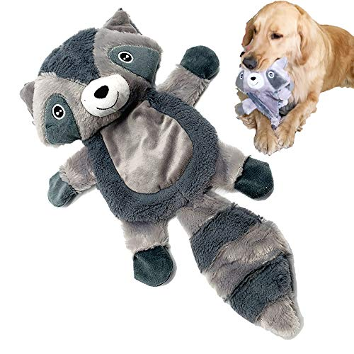 Jalousie Raccoon ExtraLarge 18 in Dog Squeaky Toy Dog Plush Toy Interactive Comfort Toy for Small Medium Large Breeds Durable Dog Chew Toy Raccoon