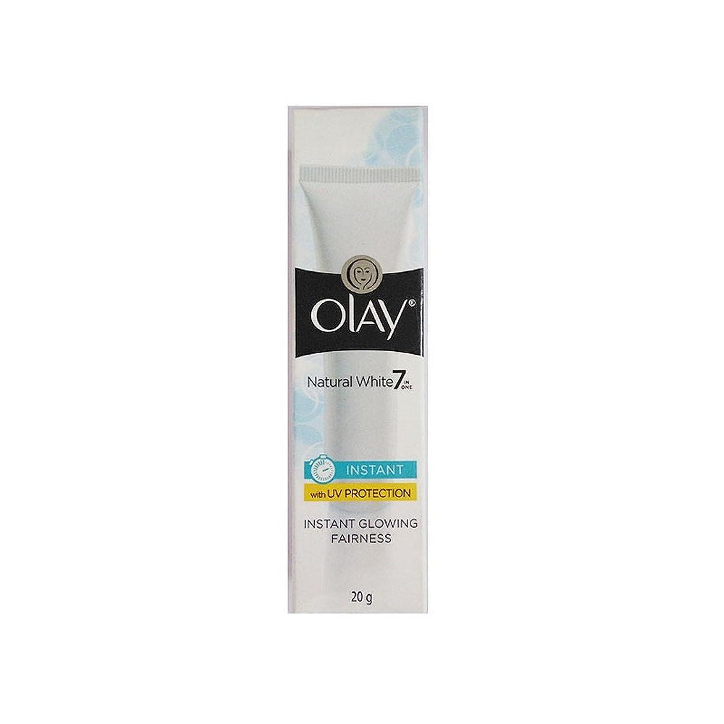 セクタピニオン印をつけるOlay Natural White Light Instant Glowing Fairness Cream, 20g