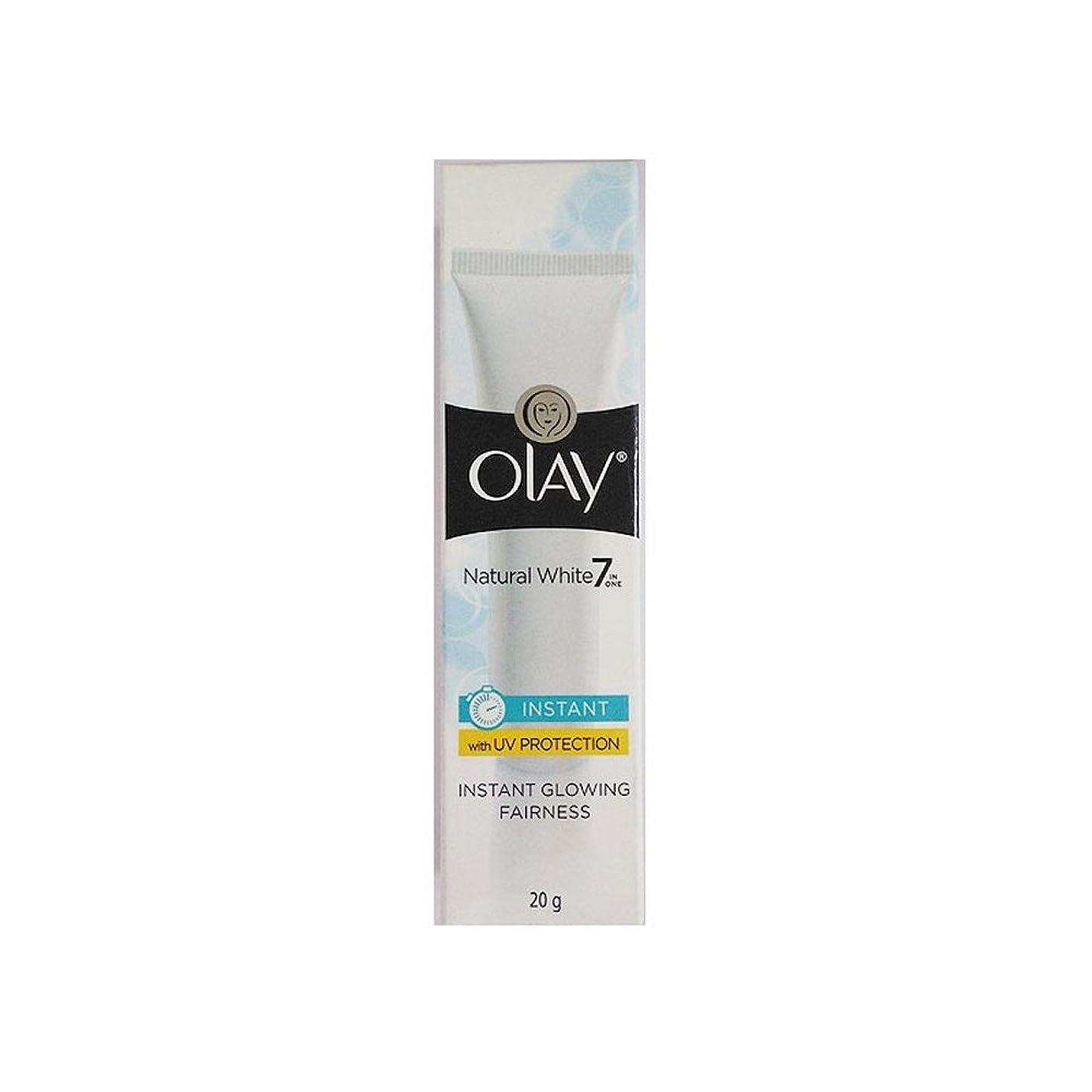誓約狂気プールOlay Natural White Light Instant Glowing Fairness Cream, 20g