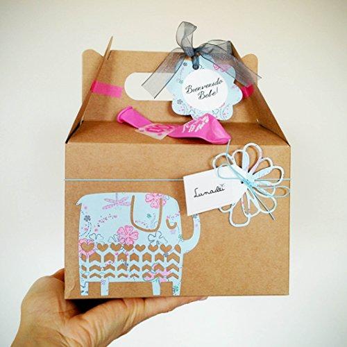 Coffret cadeau pour nouveau-né avec Cupcake (Babero TOMMEE TIPPEE + chaussettes en coton), éponge naturelle SUAVINEX et chaussettes en forme de fleur - Baby Shower Gift Idea - tons bleus, pour enfants