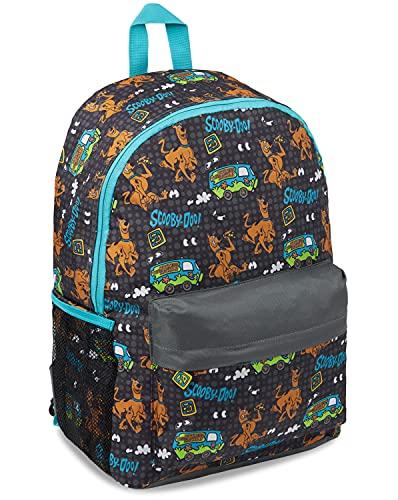 Scooby Doo Zaino Bambino, Zaino Scuola Elementare, Per Asilo E Medie, Idea Regalo Per Bambini E Ragazzi, Nero, Taglia unica