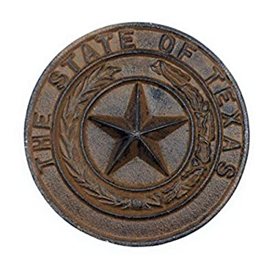 The Rustic Touch Cast Iron State Texas Seal Garden Stone