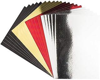 Ideen mit Herz Carton miroir | Papier métallique | Papier de bricolage métallisé | 20 feuilles | DIN A4 | 200 g/m² (noir, ...