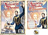 This bundle contains the Francis Drake board game and the 2 & 6 player expansions plus a treasure chest pin back button. In Francis Drake, players return to a bustling Plymouth Harbour in 1572 as an aspiring Elizabethan captain making preparations fo...