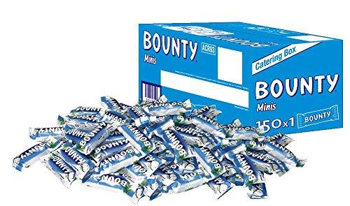 Bounty Schokoriegel | Minis, Kokos | 150 Riegel in einer Box (150 x 28,5 g = 1 x 4,3 kg)
