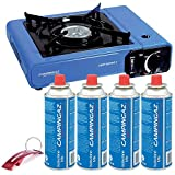 Hornillo Portátil Campingaz + 4 Cartuchos compatibles CP250 + Llavero Bricolemar de...