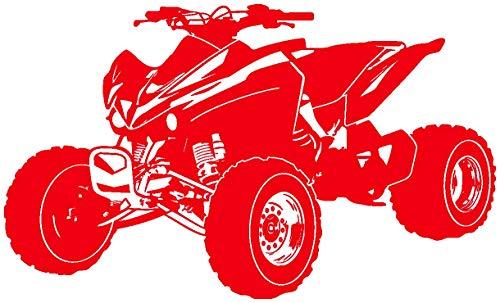 Samunshi® Wandtattoo Quad Wandaufkleber ATV in 10 Größen und 19 Farben (140x84cm hellrot)