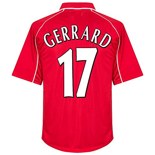 Liverpool Home Gerrard 17 Retro Trikot 2000-2001 (Retro Flex Beflockung) - XXL