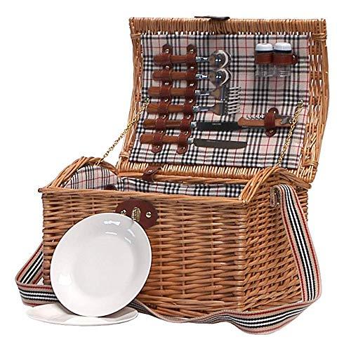 Traditioneller Weiden Picknickkorb 'Highgrove' für 2 Personen - Ideale Geschenkidee zum Geburtstag, Hochzeit, Ruhestand