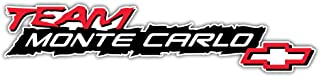 Chevrolet Team Monte Carlo Logo Sticker Car Bumper Decal 8'' X 2''