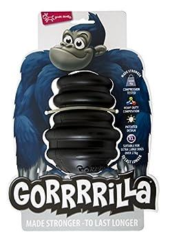 EUROPET Jouet pour Chien Gorrrrilla Classic Rubber Toy Extra Large Black +27kg