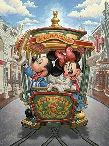 Boutiquespace DIY pintura al óleo por números – Mickey y Minnie – 16 x 20 pulgadas adultos y niños – herramienta de entrenamiento precoz lienzo arte arte arte arte arte arte pintado – sin marco