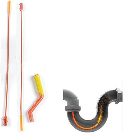 Gaddrt Drain Weasel Hair Tool Disposable Wands Starter Kit Flexible Drain Snake Clog Wand for Shower Sink Bathtub Toilet Hair Removal