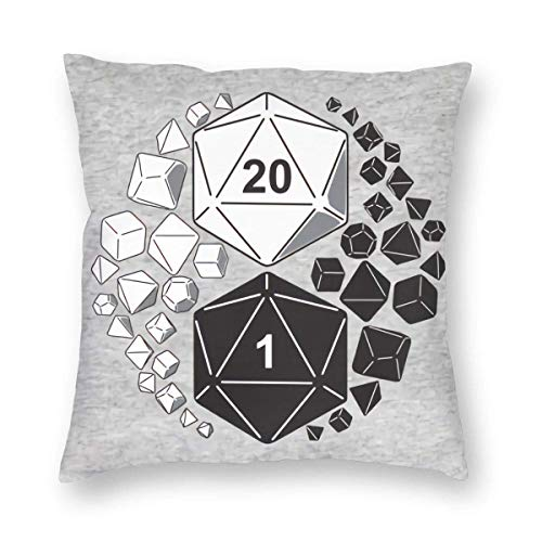 Dungeons and Dragons Yin Yang 3D Printed Pattern Square Cushiondecorative Pillow Case Home Decor Square 18x18 Inches Pillowcase/Living Room/Car/Bedroom