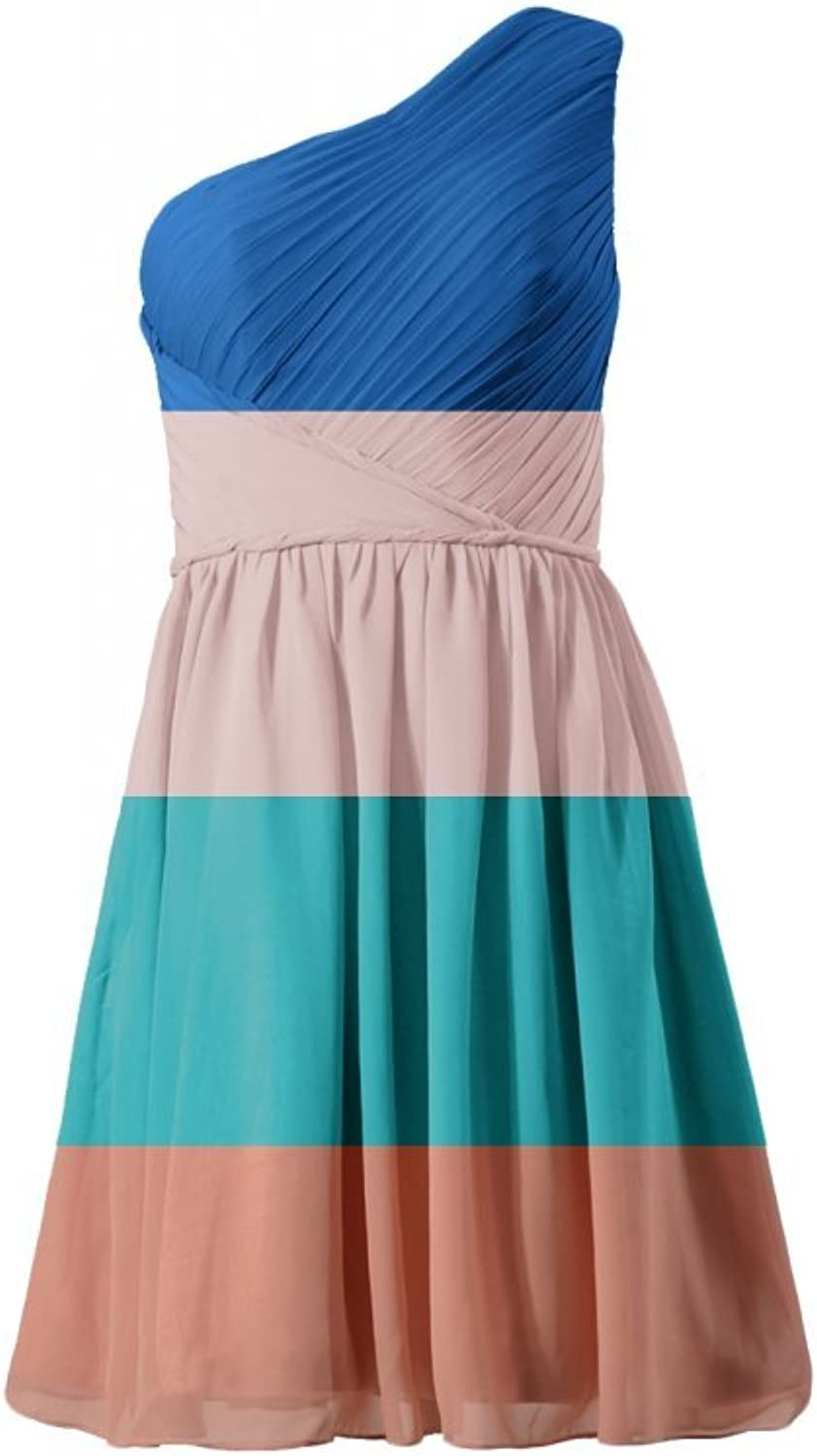 DaisyFormals reg; One Shoulder Cocktail Dress Knee Length Party Dress(BM2394)