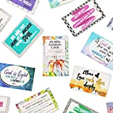 Bible Verse Cards, Scripture Quotes Inspirational Cards (3.3 x 2.1 In, 40-Pack)