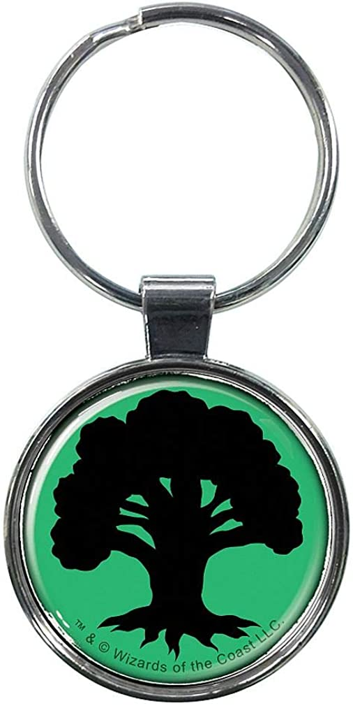 Ata-Boy Ata-Boy Magic the Gathering Green Forest Mana Officially Licensed Pins and Keychain