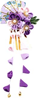 CRB Fashion Womens Girls Japanese Kimono Flower Kanzashi Hair Ornament Tie Band Clip
