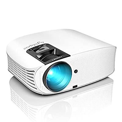 ELEPHAS Projector, 5000 Lumens HD Video Projector 200'' Home Cinema LCD Movie Projector Full HD 1080p HDMI VGA AV USB Ideal for Home Entertainment Party Games