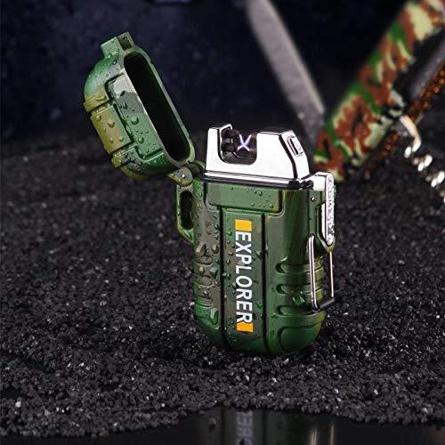 Pamura - ZÜNDEWUNDER - Lichtbogen Feuerzeug - USB Feuerzeug - Feuerzeug Elektrisch - Winddicht - Wasserfest - Flammenlos - Wiederaufladbar