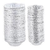 500 moldes desechables para tartas de papel de aluminio para magdalenas, panadería, hornear, recalentar, congelador y horno seguro