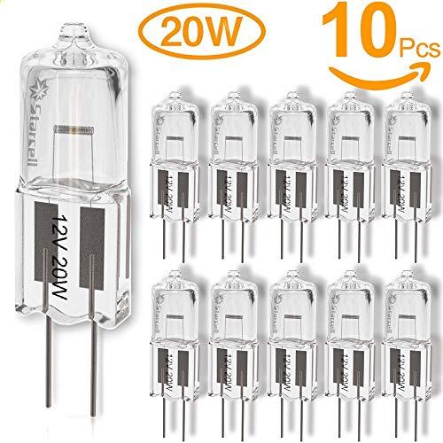 10 x Halogen Stiftsockellampe Kapsel Lampe G4 5W 10W 20W 5 10 20 Watt 12V Leuchtmittel (20) [Energieklasse C]