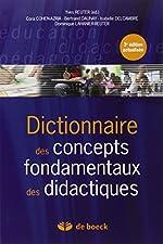 Dictionnaire des concepts fondamentaux des didactiques d'Yves Reuter