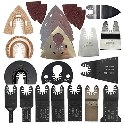 New LIANGANAN 66 pcs oscillating Tool Saw Blade Accessories for Multifunction Electric Tool as Fein Power Tool etc,Wood Metal Cutting,Home DIY Quality