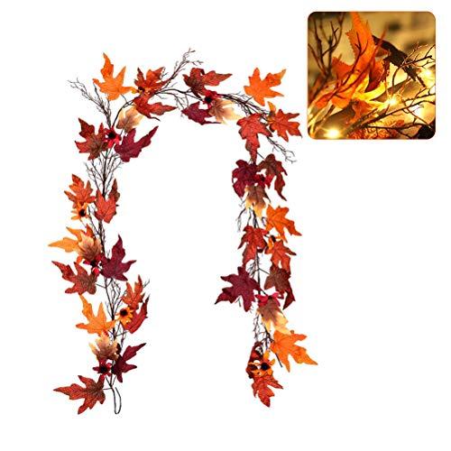Herfst esdoorn slinger - 1,8 m hangende wijnslinger kunstmatige herfst bladeren slinger Thanksgiving decoratie voor thuis bruiloft open haard party Kerstmis