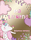Ma Licorne: Magique, cahier de dessin pour filles 100 pages.