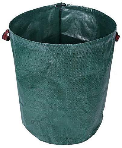 NMDD Bolsa para desechos de jardín Bolsa Grande para desechos de jardín Contenedor para Sacos de Basura para desechos de jardín con manija de Doble Costura Reciclaje de Alta Resistencia