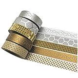 K-LIMIT - Set di nastri washi tape, rotoli di nastro adesivo decorativo masking tape per scrapbooking, ottimi per il fai-da-te Design 9867